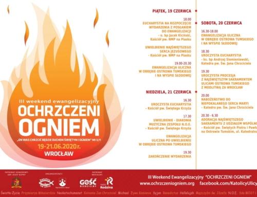 """""""Ochrzczeni Ogniem"""" – adoracja 20.06.2020"""