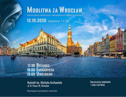13.10.2020 – Wspólnotowa modlitwa za miasto Wrocław