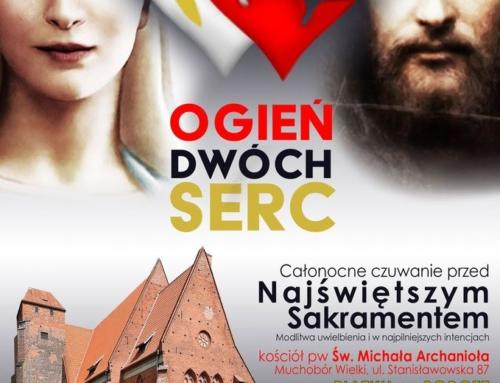 """""""Ogień Dwóch Serc"""" – adoracja 04-05.12.2020"""